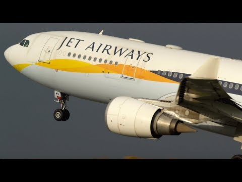 Jet Airways A330-200 Takeoff from Manchester - NEW ROUTE to Mumbai - November 2018
