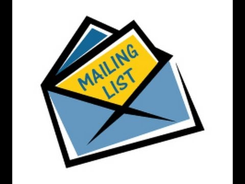 How to create a Mailing list