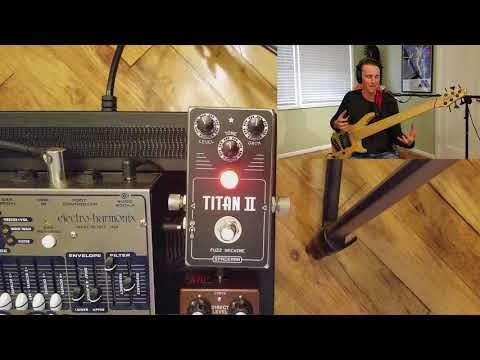 Spaceman Effects Titan II Fuzz Pedal (bass demo)