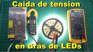 Caida de tension en tiras de LEDs