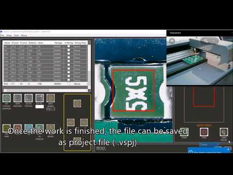 Electronic card Optical Inspection with SMDVISIO in Auto shot mode - part #1