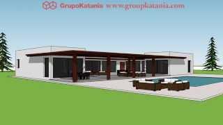 Modelo Almeria. Chalet De Nueva Construcción Diseñado Por Grupo Katania En Alicante Y Murcia.