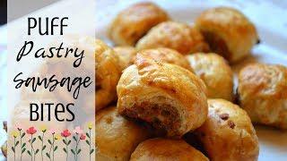 Super Bowl Appetizer Ideas I How to make Puff Pastry Sausage Bites #Appetizer #superbowl #fingerfood