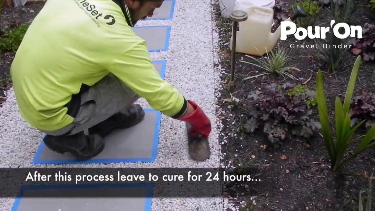 Pour on gravel binder: 3 easy steps