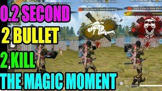 0.2 sec using 2 bullet kill 2 enemy|| free fire tricks and tips|| gun skin power|| Run Gaming