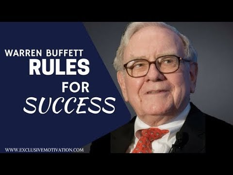 WARREN BUFFET TOP TEN RULES SUCCESS