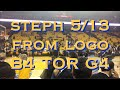 Steph Curry 5-for-13 from the logo pregame Game 4 NBA Finals vs Raptors