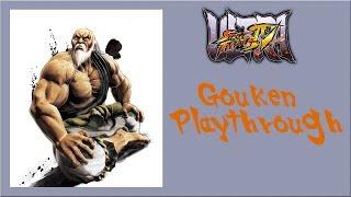 Ultra Street Fighter IV - Gouken Arcade Mode Playthrough
