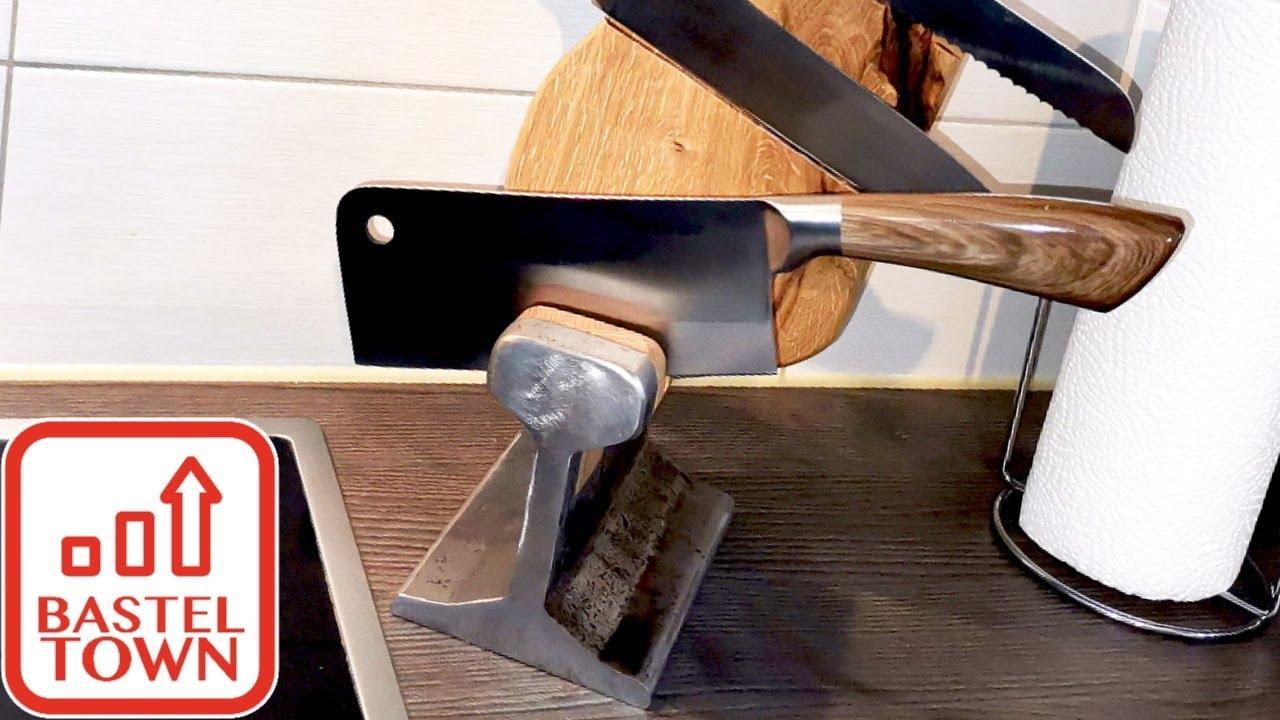 DIY Messerblock selber bauen mit Holz & Magenten: Upcycling DIY Küchen Deko