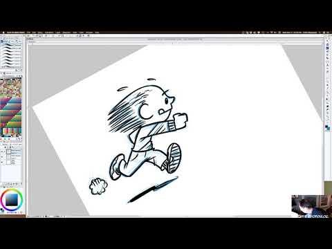 Cartoonist At Work
