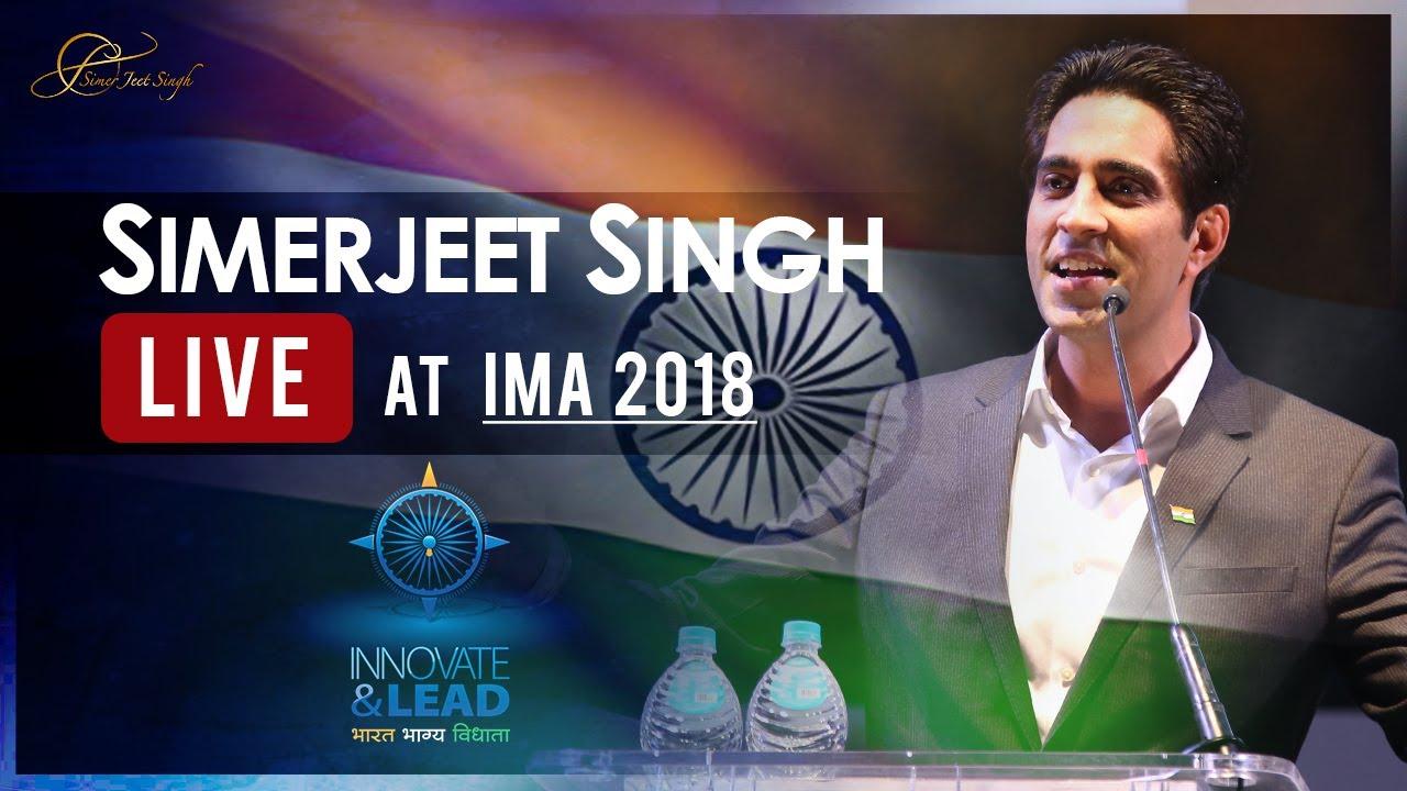 Motivational Speaker in India Simerjeet Singh Keynote on Leadership Innovation Inspiration IMA