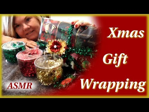 ASMR Wrapping Your Christmas Gifts ~ Holiday Gift Wrapping