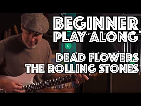 Dead Flowers Beginner Play Along [Rolling Stones] using Justin's Beginner Song Course App Guitaraoke