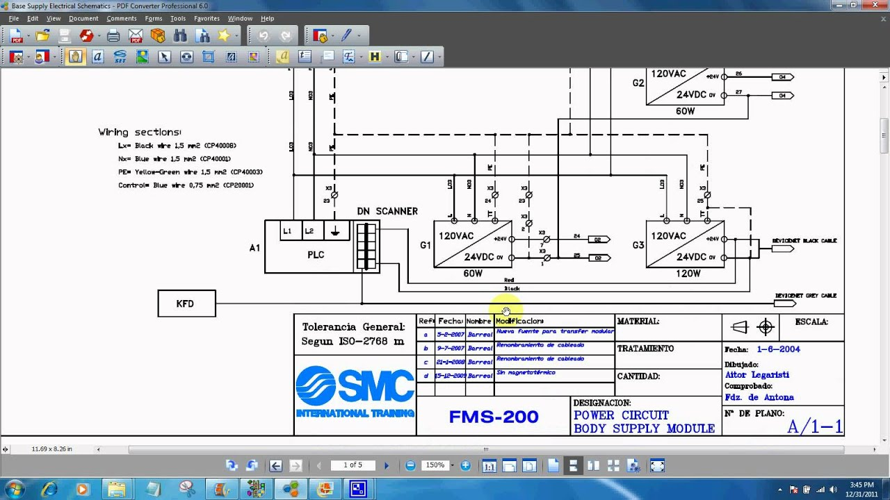 Industrial Electrical Schematic - Wiring Circuit •