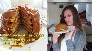 Panquecas Americanas com Doce de Leite - Fácil e rápido   Paula Mizael