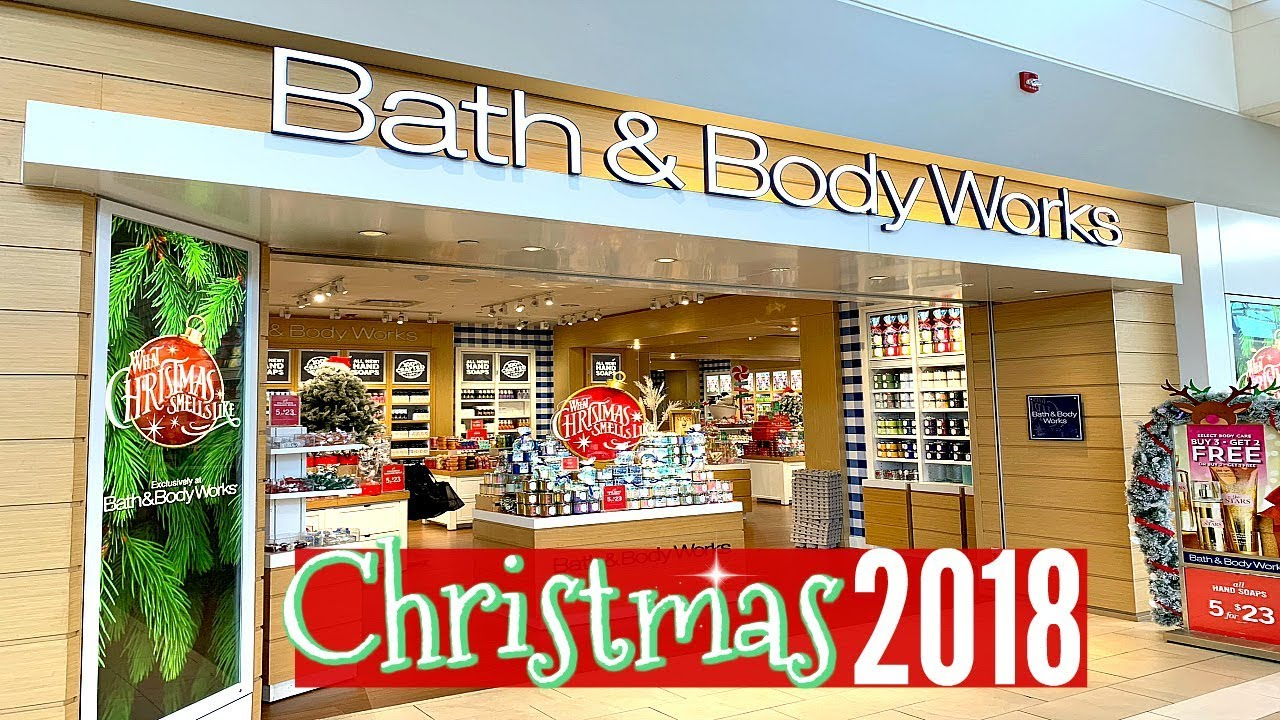 Bath Amp Body Works Christmas 2018 Shop With Me Youtube