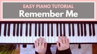 Remember Me - Coco (EASY Piano Tutorial!)