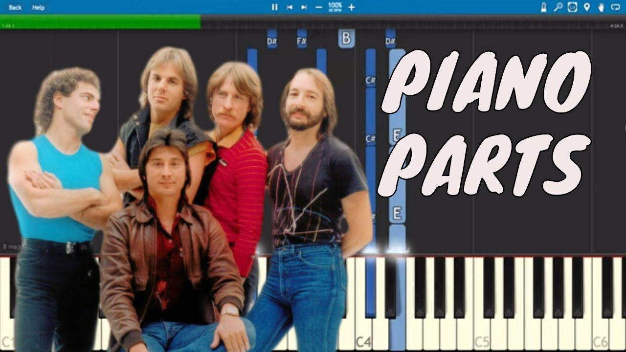 Journey - Faithfully - Piano Parts ONLY - Tutorial