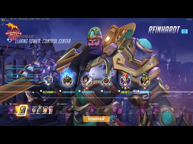 CSUDH Overwatch Team Casual Practice feat. Dizzy - CSUDH Esports (03/28/2020)