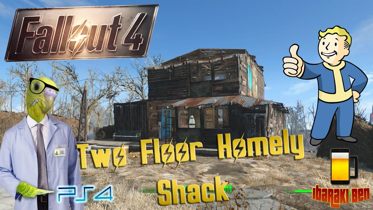 Fallout 4 Home Designs Part - 19: Fallout 4 Perfect Settlements - Two Floor House Design