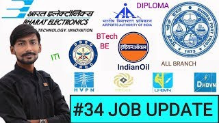 BEL, AAI, MUMBAI PORT, DREDGING CORP., DRDO, IOCL, HARYANA POWER & MORE - #34 JOB UPDATE