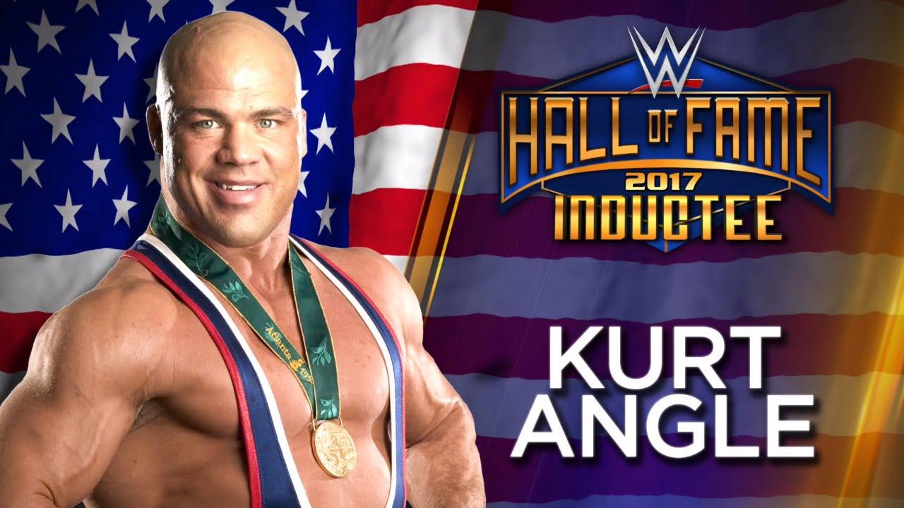 Kurt angle joins the wwe hall of fame class of 2017 youtube - Pictures of kurt angle ...