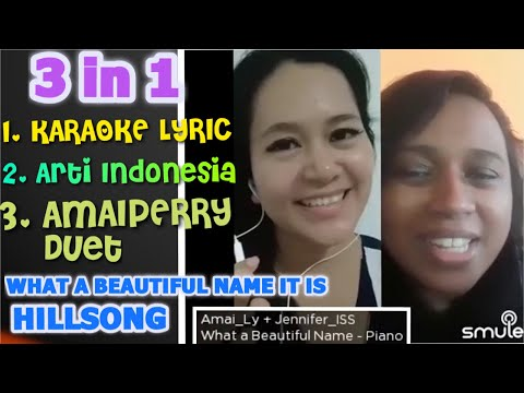 """KARAOKE LYRIC ORI """"WHAT A BEAUTIFUL NAME IT IS"""" HILLSONG BY AMAIPERRY"""