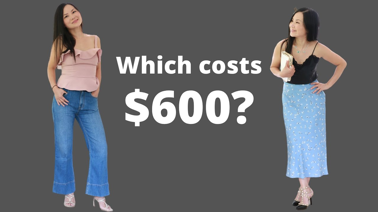 Can you spot the $600 outfit from the two? (5 secret tips on how to look expensive!)