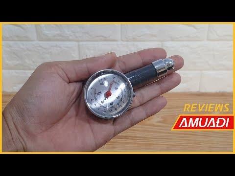 [Amuadi.Com] Trên Tay Giới Thiệu đồng Hồ Cơ đo áp Suất Lốp Xe, Bánh Xe