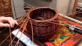 Плетение из лозы дома.Загибка в 4 прута.