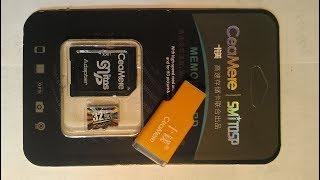 MicroCD CeaMere 32 ГБ + картрідер Розпакування Тест