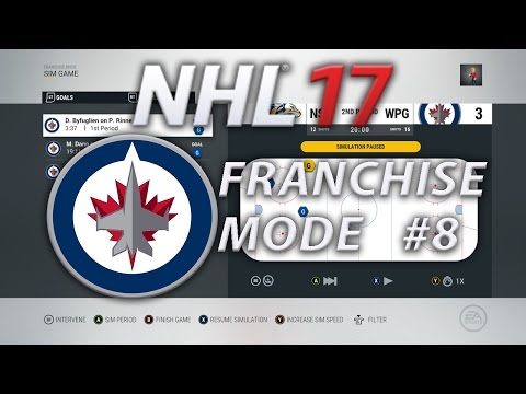 NHL 17 Franchise Mode Winnipeg Jets #8 | Round 1 of the Playoffs!!!