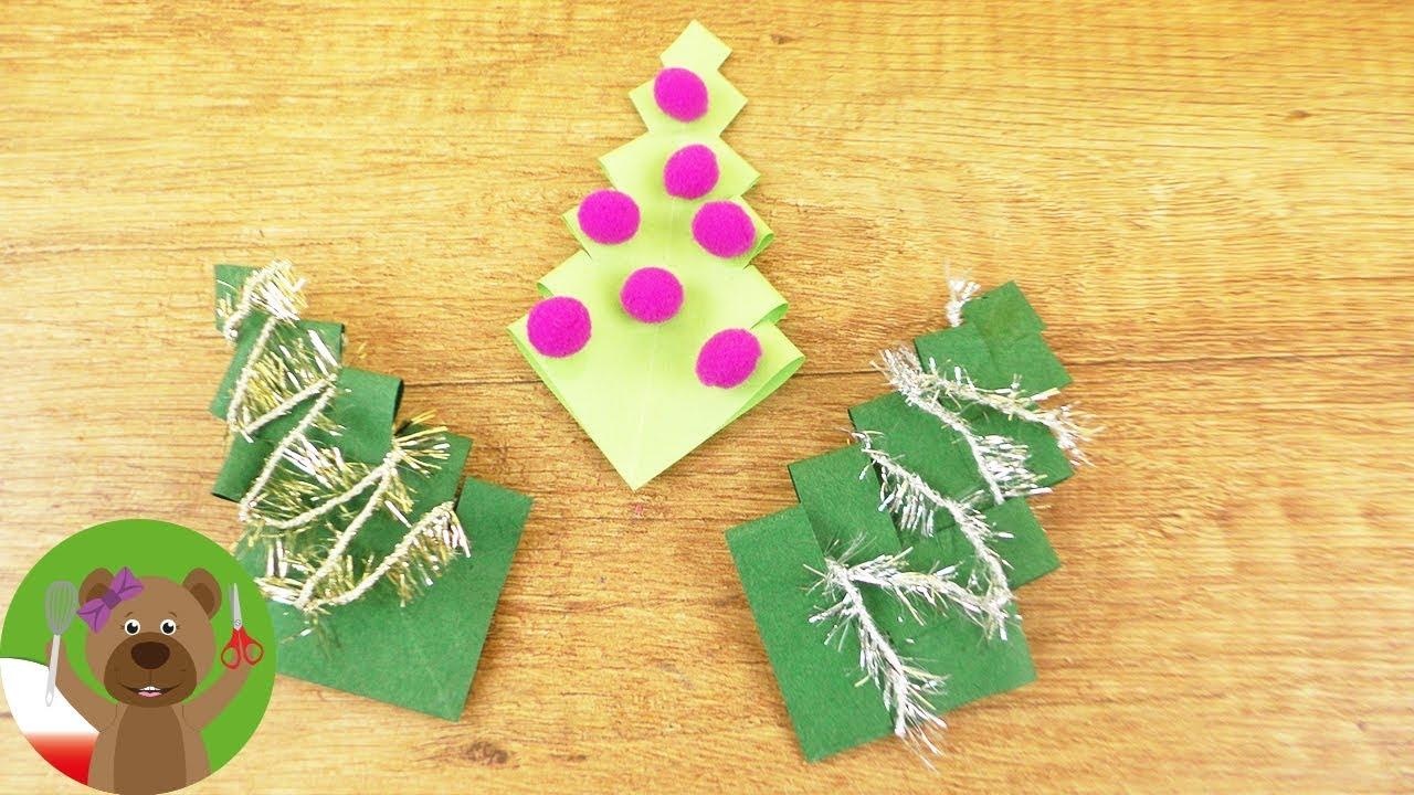 Diy świąteczne Dekoracje Choinki Z Papieru Proste Pomysły Dla Dzieci