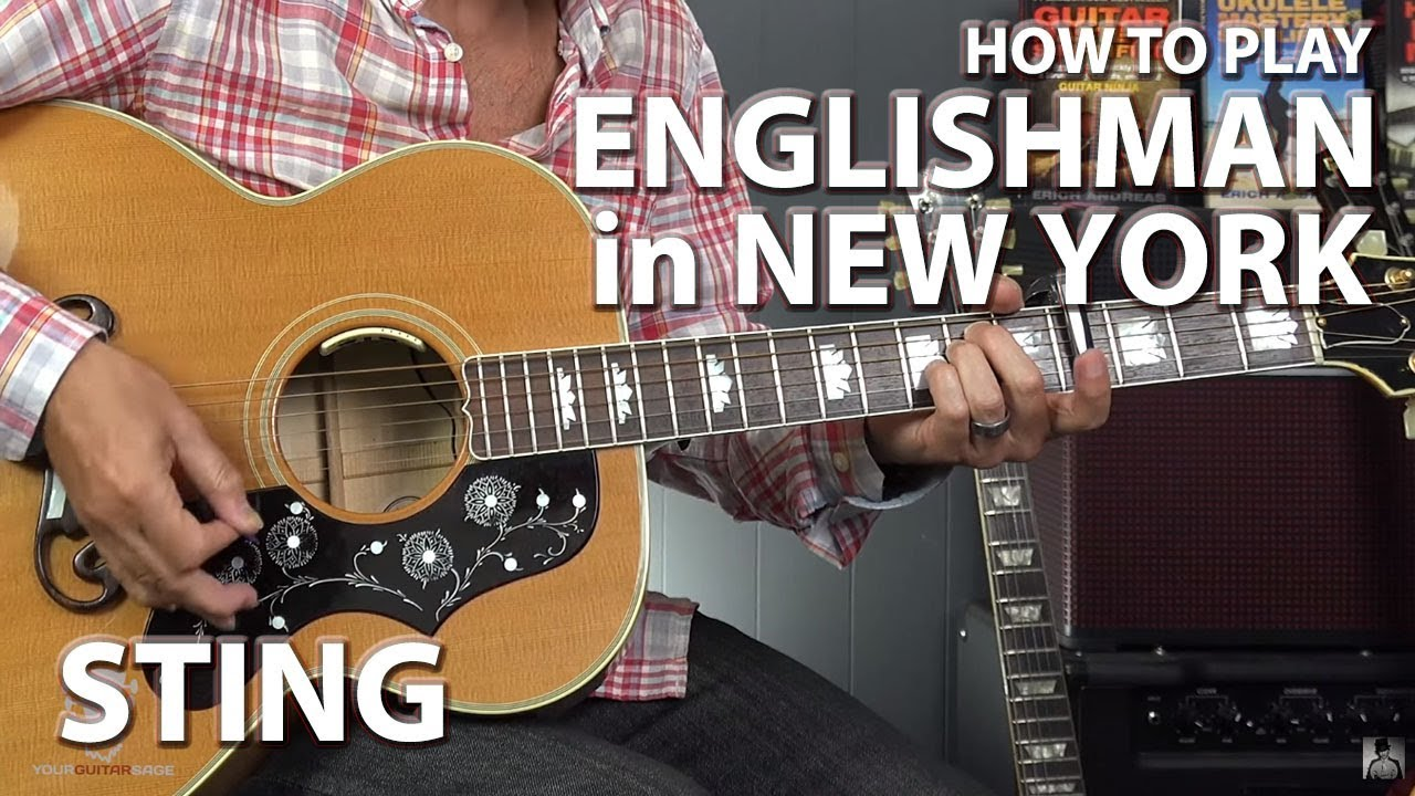 How To Play Englishman In New York By Sting Guitar Lesson Youtube