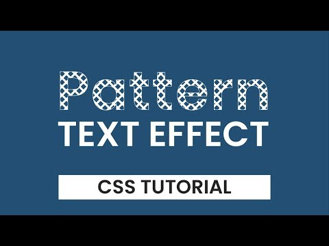 Patterned Text Effect | CSS Text Effects | CSS Tutorial thumbnail