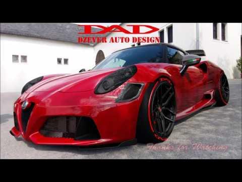 Alfa Romeo 4c >> #DzeverAutoDesign #Dzever #DAD Alfa Romeo 4C Widebody Kit - YouTube
