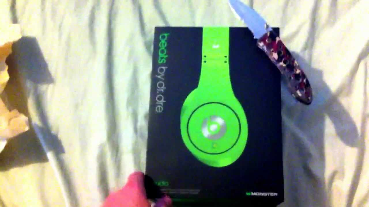 Dr Dre Beats Studio Unboxing Green Youtube