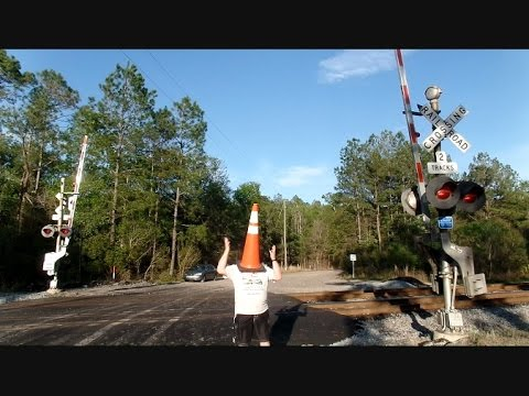 Thumbnail: CSX Train Scares Dancing Cone Head Away