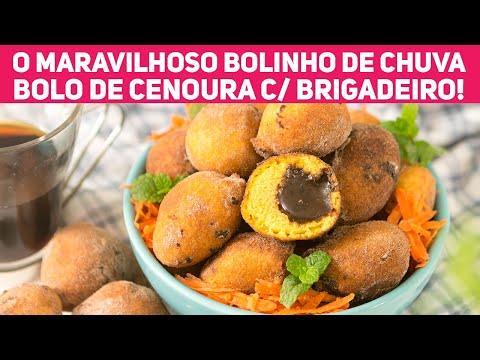 O BOLINHO DE CHUVA MAIS GOSTOSO! De Bolo de Cenoura recheado de Brigadeiro | Receitas de Minuto 470
