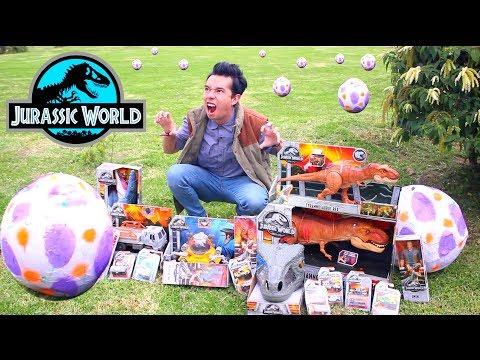 Abriendo TODOS los DINOSAURIOS de JURASSIC WORLD 2 Originales *TE LOS REGALO* - Juguetes vs Ami