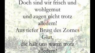 Das Reden nimmt kein End + Trotz alledem (Märzrevolution 1848; Lyrics)