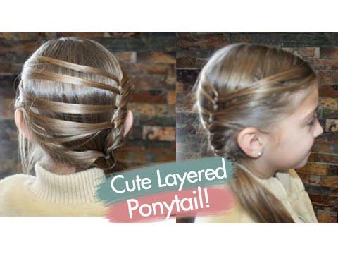 cute layered ponytail  teen hairstyles  cute girls