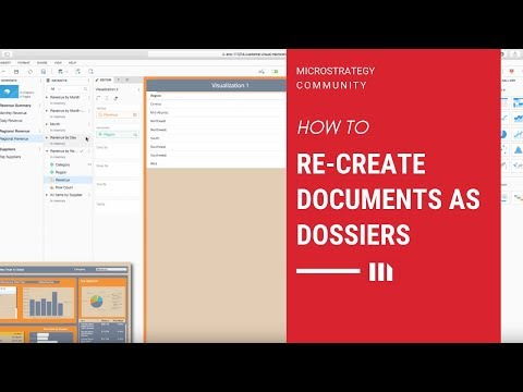 Re-Creating A Document As A Dossier