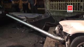 28.09.13, Accidente de Tráfico Villalba. C/ Juan Carlos, I
