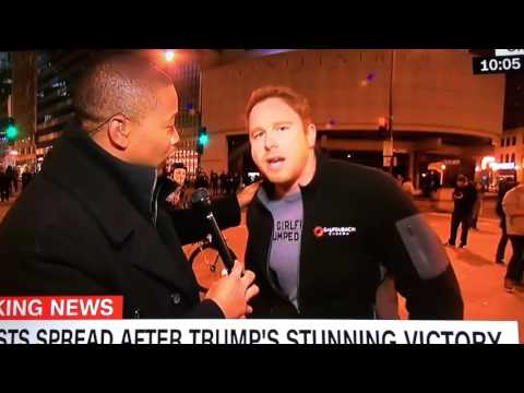 Donald Trump Election Protest: Bro Dude's Epic Live TV Meltdown on CNN