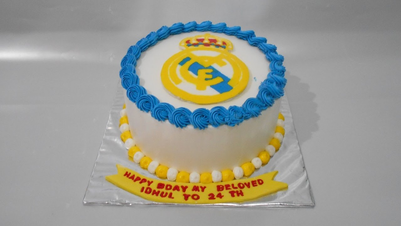 Real Madrid Cake How To Make Easy Youtube