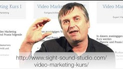 Kurs /Lehrgang Video Marketing Online Wien