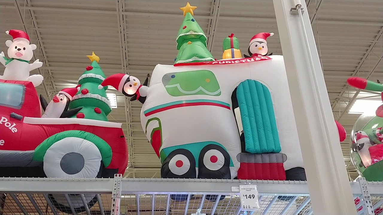 Lowes Christmas Decorations 2018 - YouTube