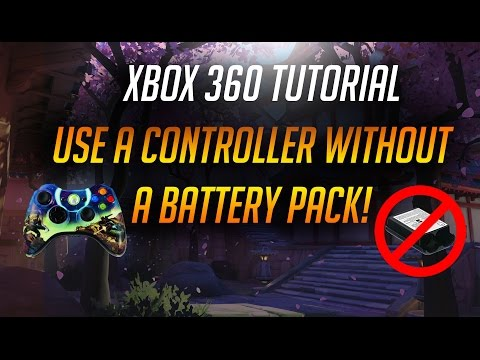 How to power an Xbox 360 controller without a battery pack