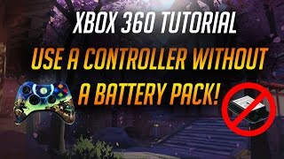 How To Power An Xbox 360 Controller Without A Battery Pack!